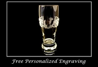 Scottish Thistle Celtic Pint Glass, Free Personalized Engraving
