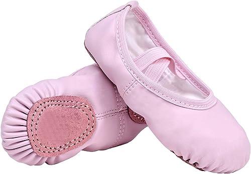 STELLE Zapatos de práctica de ballet para niñas, zapatos de yoga para bailar
