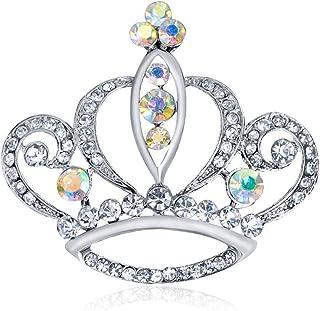 20575898822 CHUYUN Elegant Crystal Rhinestones Crown Brooch Pins for Women Fashion  Jewelry