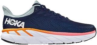 HOKA Clifton 07 Scarpa da Corsa Running Jogging su Strada o Sterrato Leggero con Appoggio Neutro per Donna Blu Arancio