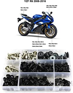 Xitomer Complete Fairing Bolts, for Yamaha YZF-R6 2008-2016, Full Set Bodywork Screws/Fastenings/Mounting Kits (Silver)