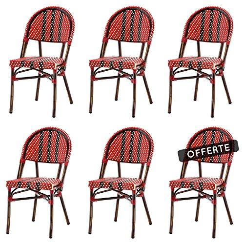 SOLDES : -37% Lot de 6 chaises NICO en polyrotin