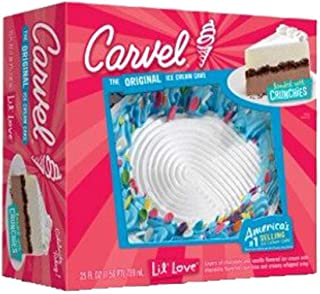 Carvel Lil' Love Round Ice Cream Cake, Chocolate and Vanilla Ice Cream, Chocolate Crunchies and Whipped Icing, Serves up t...