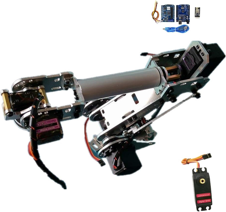 compras online de deportes B Blesiya Blesiya Blesiya Brazo Robótico Construcción Mechanics Mano Manipulador 6-Dof Robot Arm Science Juguetes Juguete de Arduino  ventas al por mayor