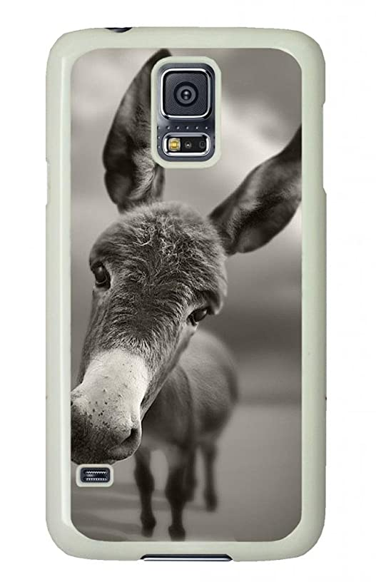 PC Custom Picture On Case Cover Cell Phone With Cute Donkey For Samsung Galaxy S5.