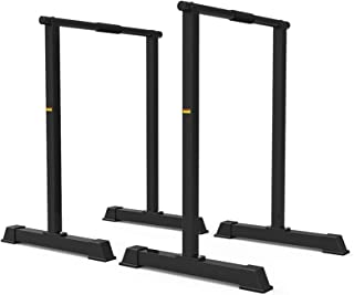 Dip Bars, Dip Stands-Fitness Parallette Dip Bars for Body Strenthener,Pull-Ups,Push-Ups,L-Sits