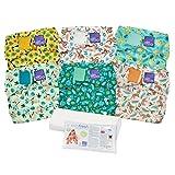 Bambino Mio, miosolo set de pañales de tela, selva tropical, 6 unidades