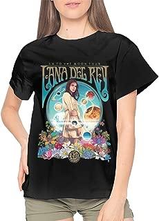 Lana Del Rey Women Cotton Unique Daily Wear Short Sleeve T Shirt Black
