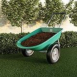 Pure Garden 50-LG1079 2-Wheeled Garden Wheelbarrow – Large Capacity...