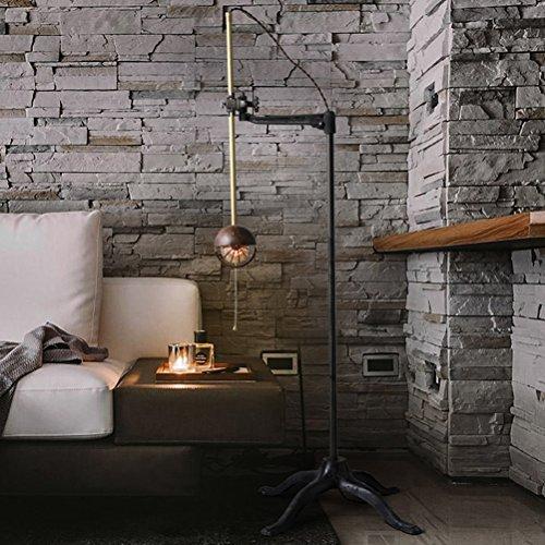 FENG LIAN wijnoogst-verstelbaar helder industrieel retro LOFT-art imitatie koperen lange arm, de leeslamp staat staand licht