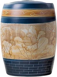 Pots et bocaux de conservation 5kg ~ 25kg Baril De Riz Domestique Cylindre De Riz En Céramique Réservoir De Stockage Scell...