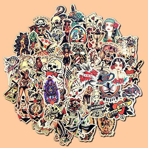 YLGG old school waterproof graffiti stickers for laptops, skateboards, suitcases, helmets, mobile phones, motorcycles,etc