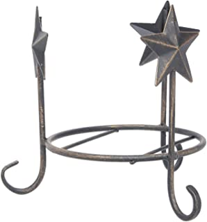 The Bridge Collection Rustic Metal Star Candleholder Base for Medium Sized Candles