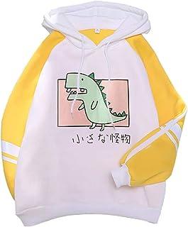 Xmiral Hoodie Pullover Dames Herfst Mode Kitty Cat Print Hooded Sweatshirt Trui