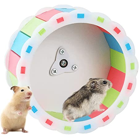 Qpets® Hamster Wheel Silent Pet Roller Toy Non Slip Hamster Exercise Spinner Cute Small Animal Cage Attachment Accessory