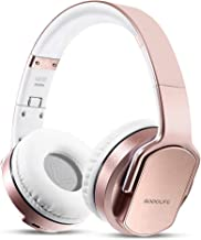 Wireless Headphones Speakers 2 in 1, SODOLIFE HiFi Stereo V5.0 Bluetooth Headphones Over Ear, Foldable Girl Headset with Mic, Support TF Card/FM Radio/Wired Mode for Travel Cellphones PC TV(Rose Gold)