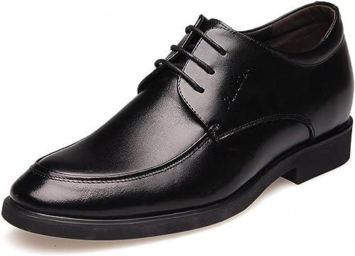 CAI Herren Schuhe Kunstleder Formale Schuhe Frühjahr Sommer Herren Komfort Kleid Schuhe Schwarzbraun Party & Abend Lederschuhe (Farbe   Schwarz Größe   41)