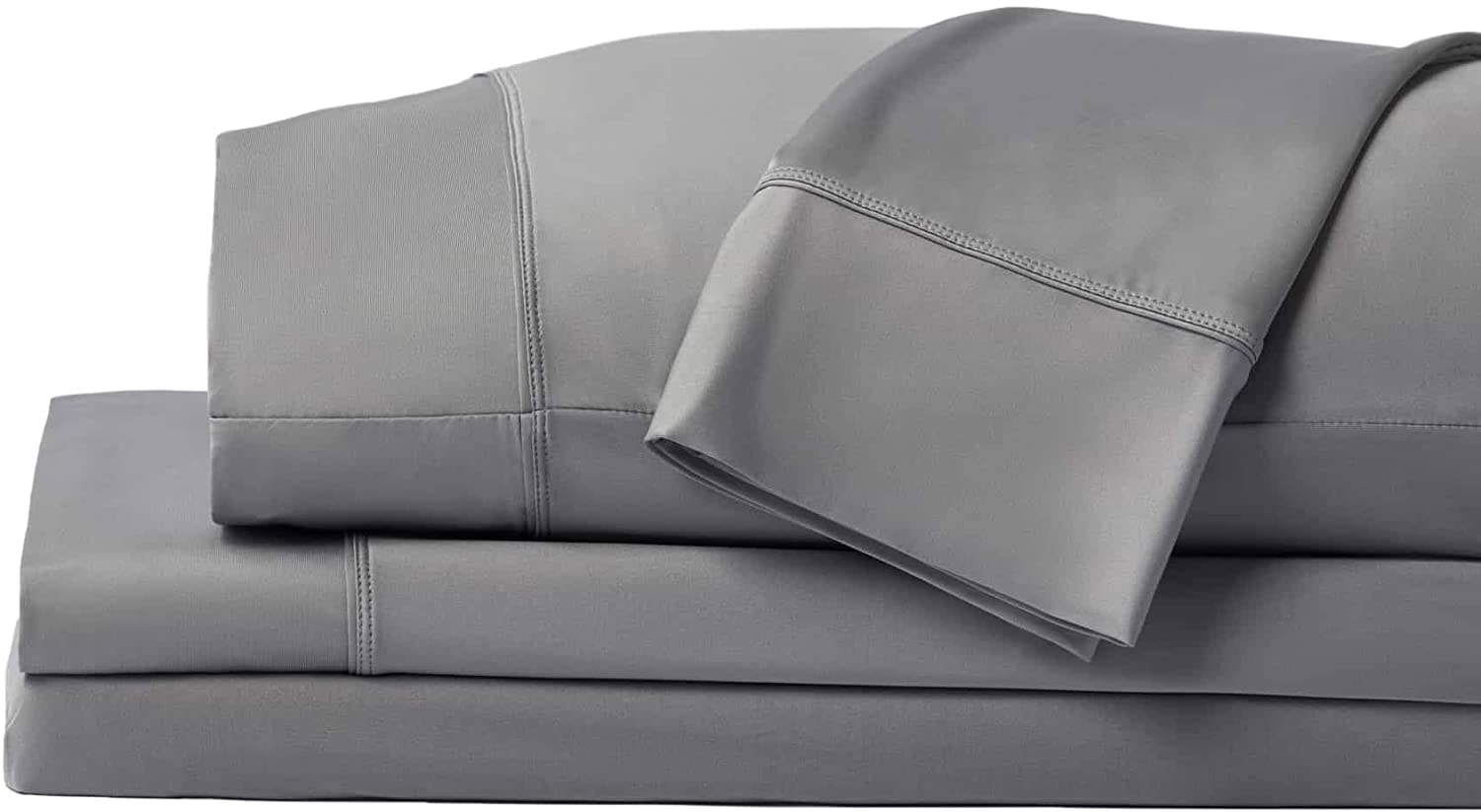 SHEEX Original Performance Sheet Set with 2 Pillowcases, Ultra-Soft Fabric Cooling and Breathes Better Than Traditional Cotton, Graphite, Queen : Home & Kitchen