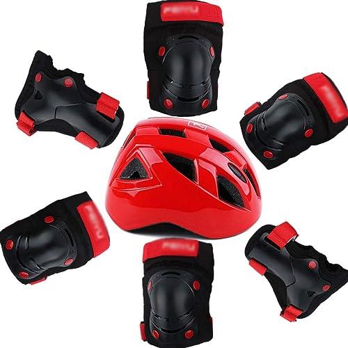 Vuelta de 10 dias WHP Casco Casco Casco Infantil Equilibrio Coche Bicicleta Rodillera Codo Guardia Equipo de projoección Traje Sombrero de Seguridad (Color   negro, Tamaño   XS)  promociones de descuento