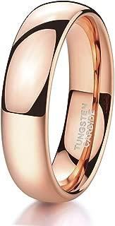 Shuremaster 2mm 4mm 6mm 8mm Tungsten Wedding Band Ring for Men Women Black/Gold/Rose Gold/Silver Domed High Polish Comfort Fit 4-15