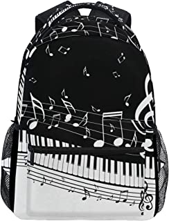 MOFEIYUE Piano Music Note Backpacks College School Bag Shoulder Casual Travel Daypack Hiking Camping