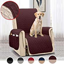 MOYMO Reversible Oversized Recliner Chair Cover,Durable Recliner Slipcover with 2 Inch Strap,Machine Washable Recliner Cover for Dogs,Kids,Pets(Recliner Oversize:Chocolate/Beige)