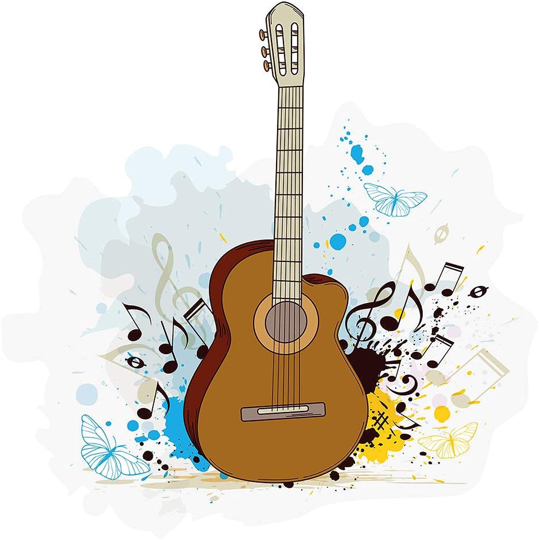 Wandtattoo Jugendzimmer Musik Verspielte Akustik Gitarre ...