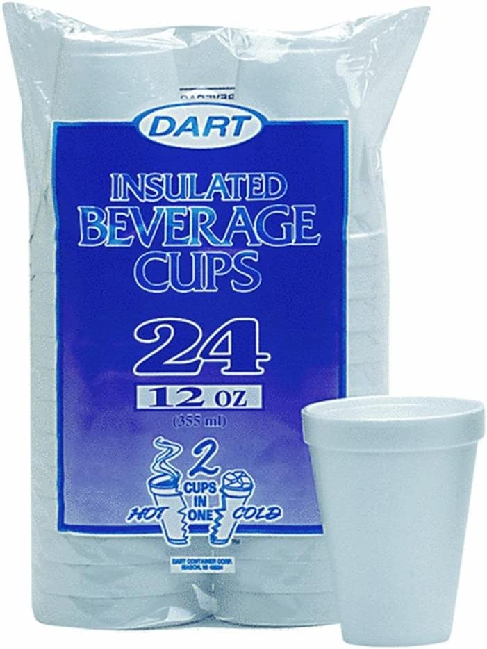 Dart 12-Ounce Foam 2021 new Cups Pack of 12 excellence