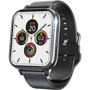 スマートウォッチ 大画面 腕時計 万歩計 活動量計 ストップウォッチ IP68防水 iphone対応 Android対応 背景カスタマイズ可能(2020/12よりバージョンアップ)