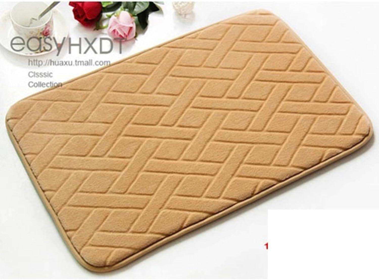 Slow springback mats Bathroom Kitchen Water-Absorption Anti-Skid Pads Indoor mat-G 120x160cm(47x63inch)