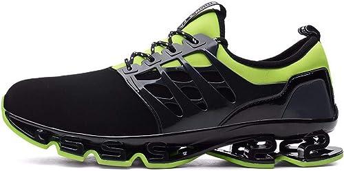 KMJBS-Summer Chaussures de Course personnalité Lame Chaussures Sports élasticité Les Amateurs de Chocs Vert Forty-Seven
