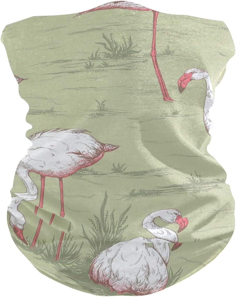 Flamingo PatternPrint Headband Face UV Sun Protection Mask Neck Gaiter Magic Scarf Bandana Headwear Balaclava for Women Men