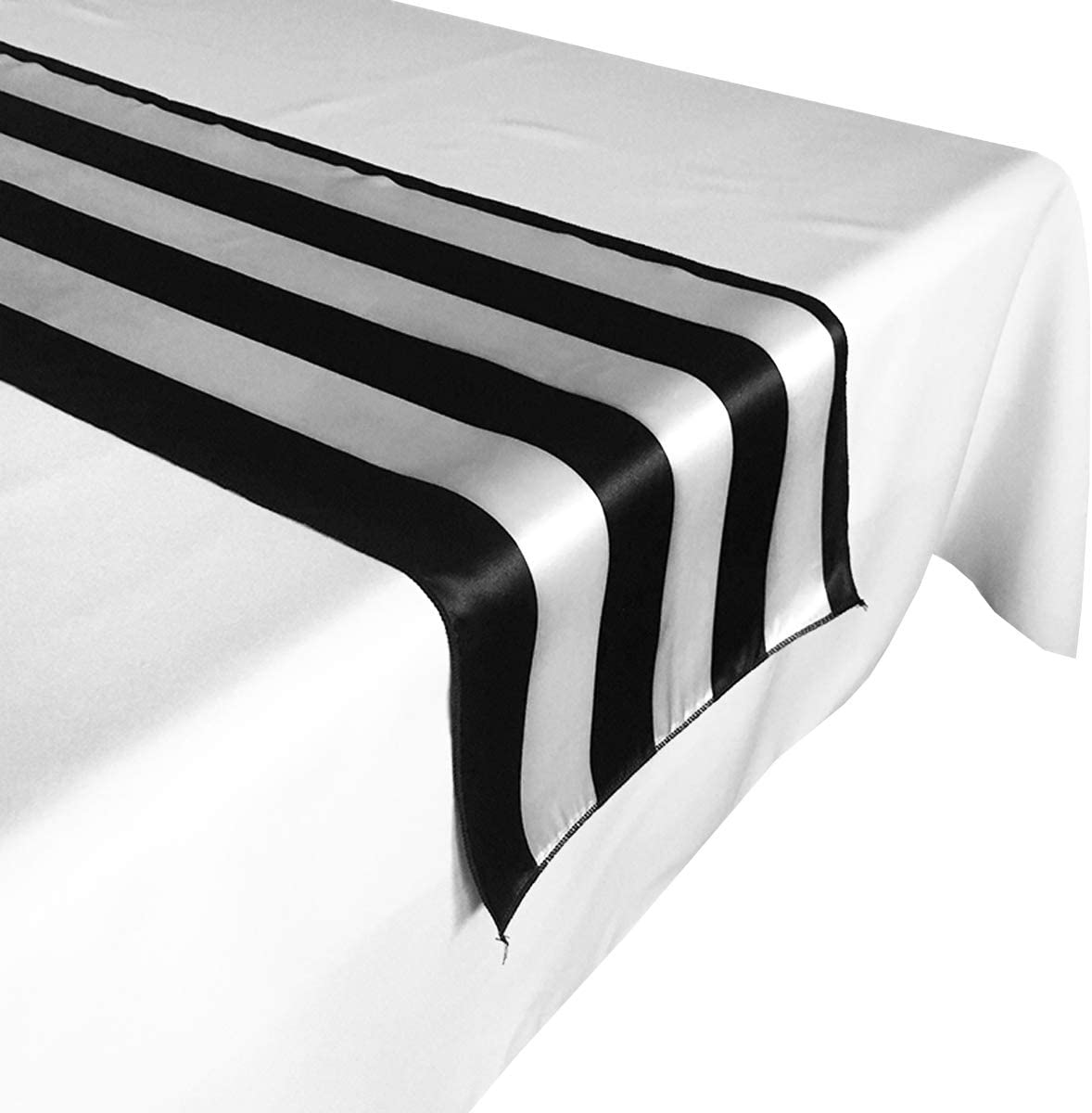 lovemyfabric Weekly update 2 Inch Striped Satin ! Super beauty product restock quality top! Runner Table Wedding for Brida