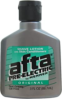 Afta Pre-Electric Shave Lotion With Skin Conditioners Original 3 oz (6 pack)