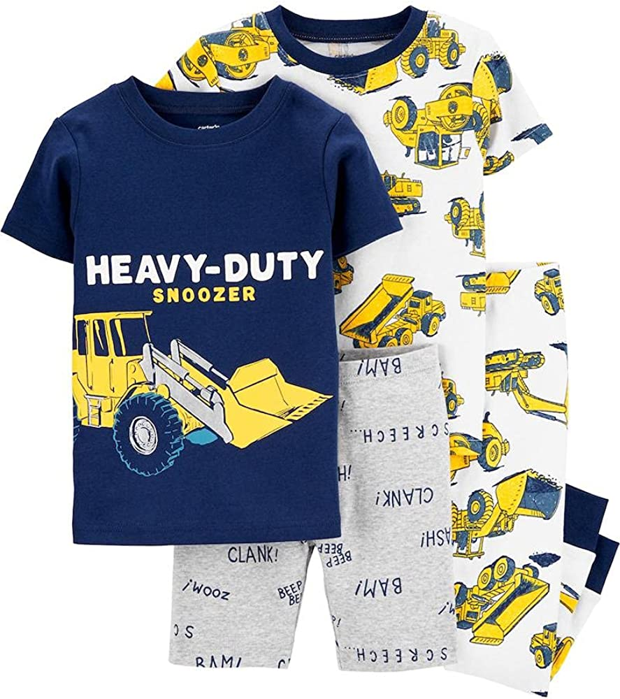 Carter's Toddler Boys' 4 Pc Cotton Pajamas (Snoozer Blue