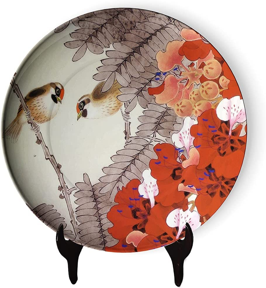 Classic Ranking TOP18 Floral and Bird Household Ceramic Max 68% OFF Plate Decorative Buds