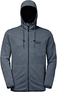 Jack Wolfskin Men's TONGARI Hooded Jacket Men Sweatshirts, Night Blue