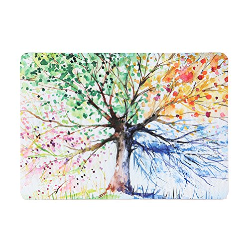 iDonzon MacBook Air 13 inch Case (Model: A1466 & A1369, 2010-2017 Release), Hand Painted Watercolors Hard Protective Case Cover Only Compatible Mac Air 13.3 inch - Four Seasons Tree
