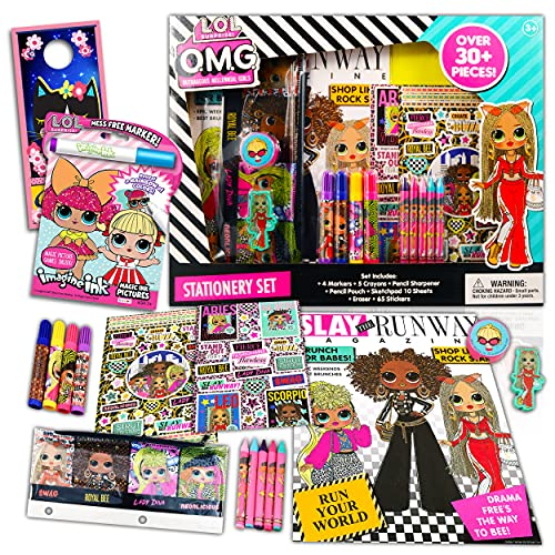 LOL Doll School Supplies Value Set Bundle - 30+ Pcs Lol Doll Activity Pack with Coloring, Notebooks, Memo Pad, Stickers, and More