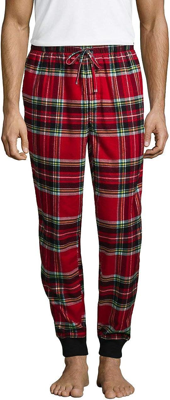 Lands End Mens Flannel Jogger Pajama Pants