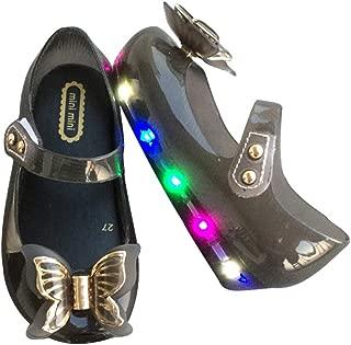 Super color Girl Cute Jelly Princess Shoes Shine Shoes LED Light Up Luminous Shoes Christmas Party Dancing
