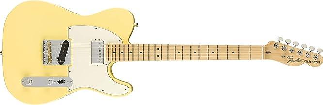 Fender American Performer Telecaster Hum Electric Guitar (Vintage White, Maple Fingerboard)