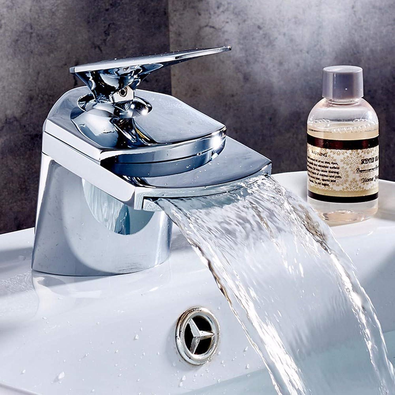 Waschbecken Wasserhhne Bad Kalt- und Warmwasser Wasserhahn alle Kupfer Badezimmer Schrank Waschbecken Wasserfall Waschbecken Einlocherhhte Plattform Waschbecken Waschbecken Waschbecken Silber 110 mm