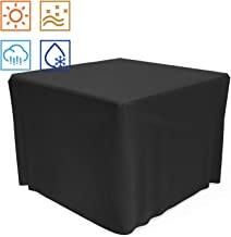 SHINESTAR 32 Inch Fire Pit Cover for TACKLIFE & Endless Summer Outdoor Fire Table, Heavy Duty Waterproof Square Fire Pit Cover for Outdoor Propane Fire Pit Table