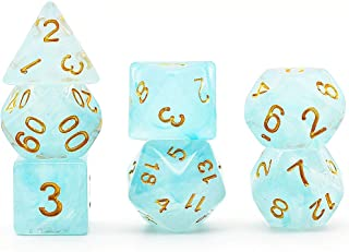 translucent polyhedral dice