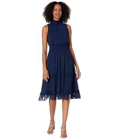 1.STATE Smock Neck Midi Dress