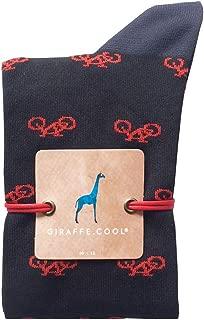 Giraffe Cool Calcetín para Hombre de Color Negras bicis