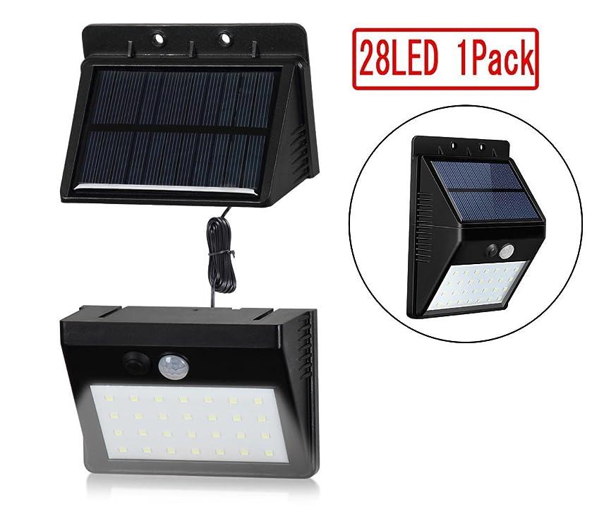 敷居認める泥改良版 センサーライト 人感ソーラーライト ボタン付き 28LED太陽発電 屋外照明
