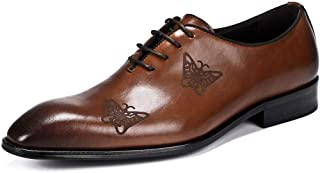 Men's Butterfly Carving Business Oxford Shoes Formal Shoes (Color : Brown, Size : 40)
