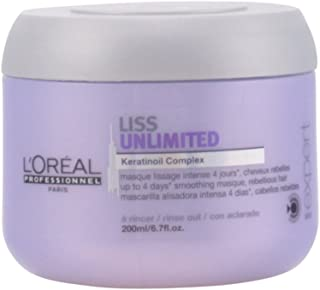 L'Oreal Liss Unlimited Keratinoil Complex Mask for Unisex, 6.7 Ounce